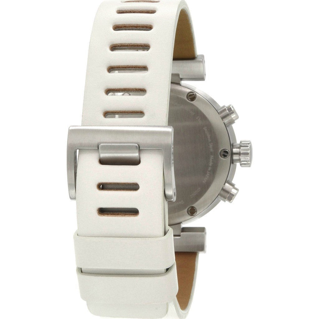 Issey Miyake W White Chronograph Watch | White Leather Ny0Y001Y