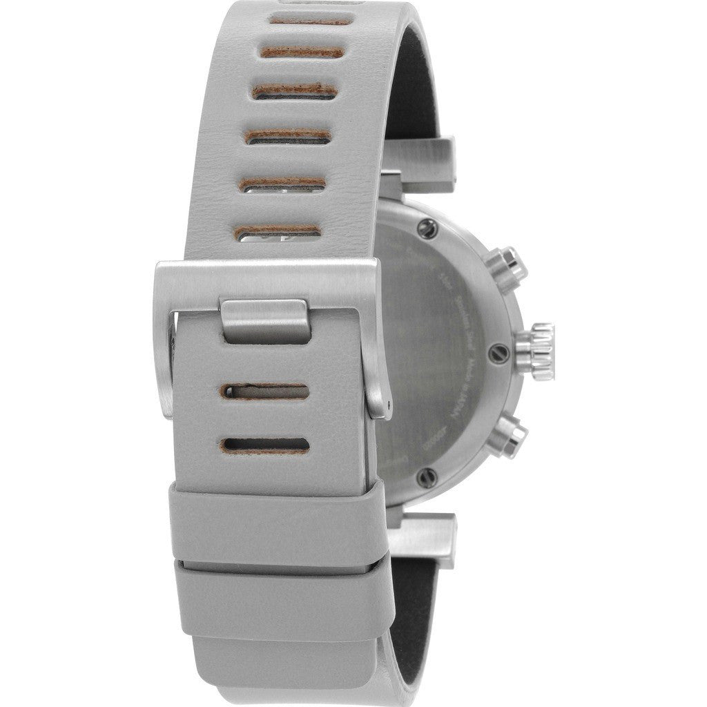 Issey Miyake W Grey Chronograph Watch | Grey Leather Ny0Y002Y