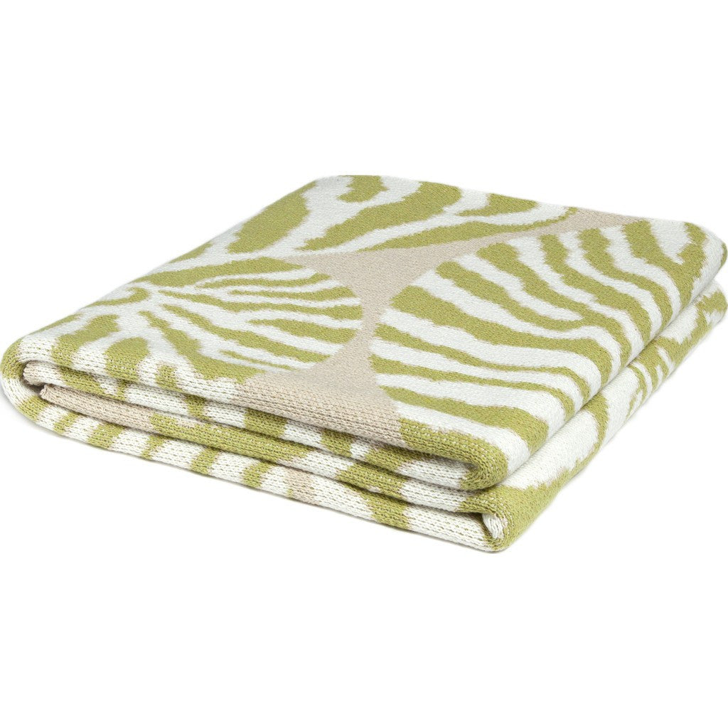 in2green Nautilus Eco Throw | Pistachio/Flax BL01NT3