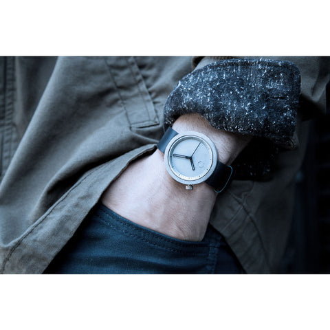 Aggregate Masonic Grey Concrete Watch | Pacific Navy Leather