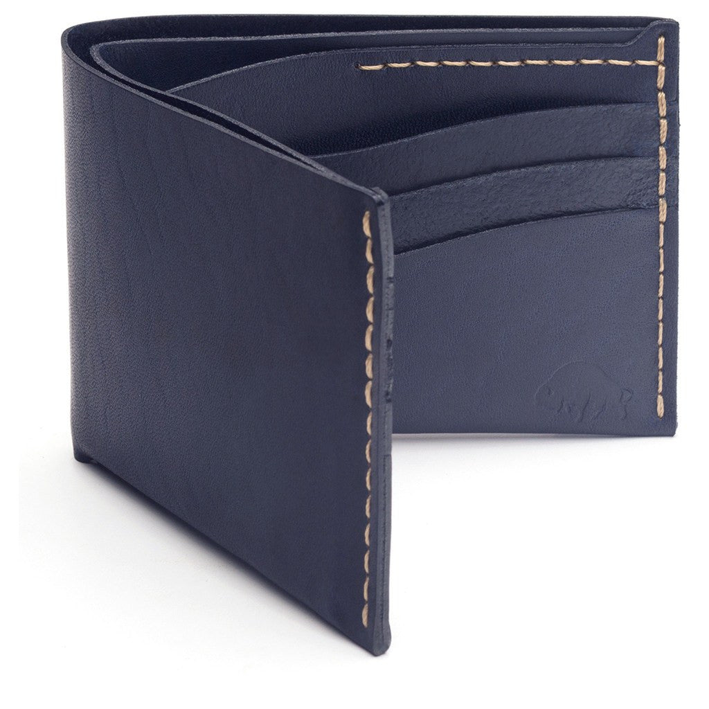 Ezra Arthur No. 8 Wallet | Navy CW823