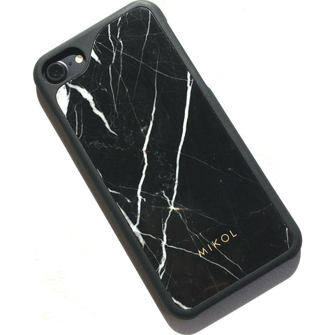 MIKOL Nero Marquina Marble iPhone Case | Black