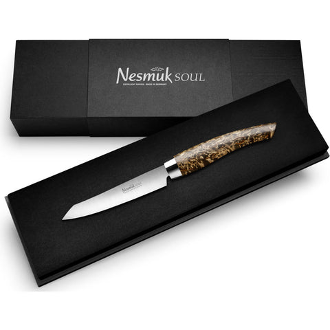 Nesmuk Soul Office Knife | Karelian Birch Burl S3BM902016