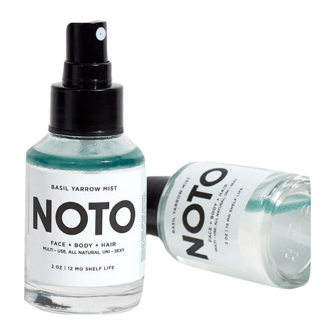 Noto Botanics Face + Body + Hair Basil Yarrow Mist | 2 oz