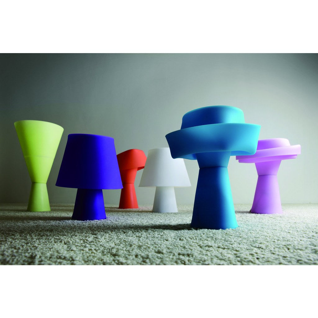 Seed Design Numen Table Lamp | Fluorescent Lavender SQ-420D-FLOU.LV