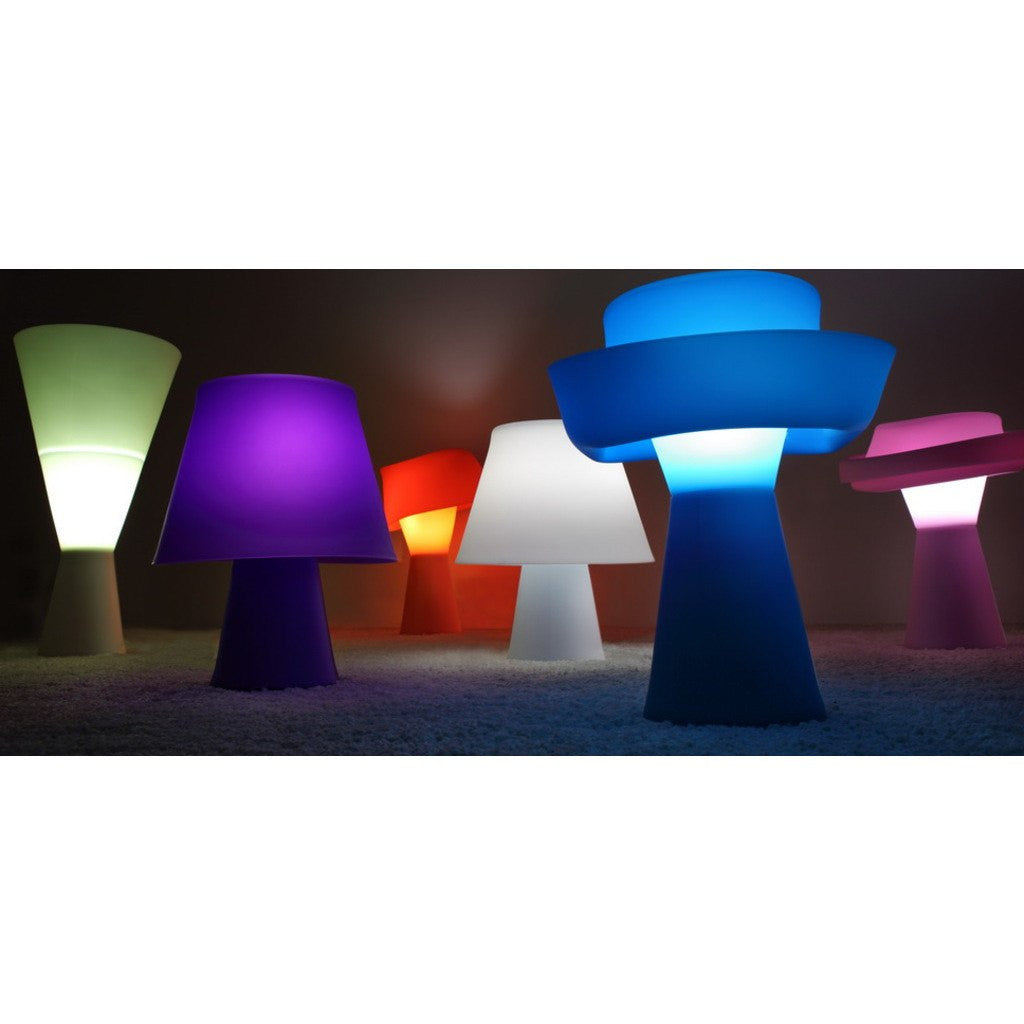Seed Design Numen Table Lamp | Fluorescent Green SQ-420D-FLOU.GN