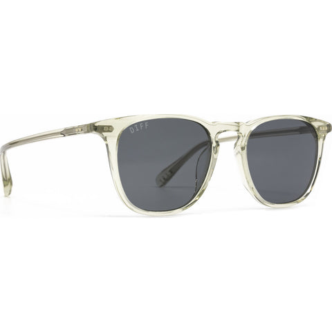 DIFF Eyewear Maxwell Polarized Sunglasses | Olive Crystal + Grey Lens