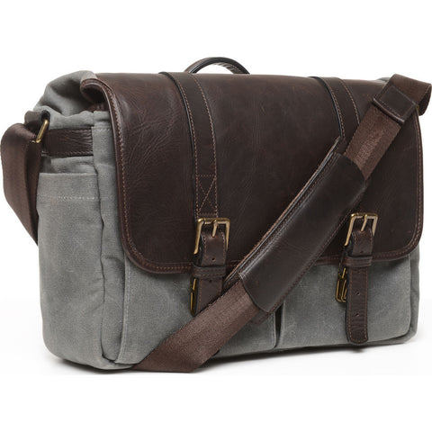 ONA The Brixton Camera Messenger Bag | Smoke/Dark Truffle- ONA5-013GRLDB