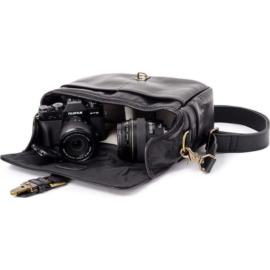 ONA Bowery Camera Sling Bag | Black Leather ONA 5-014LBL