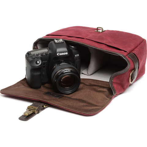 ONA The Bowery Camera Messenger Bag | Crimson - ONA5-014BRG