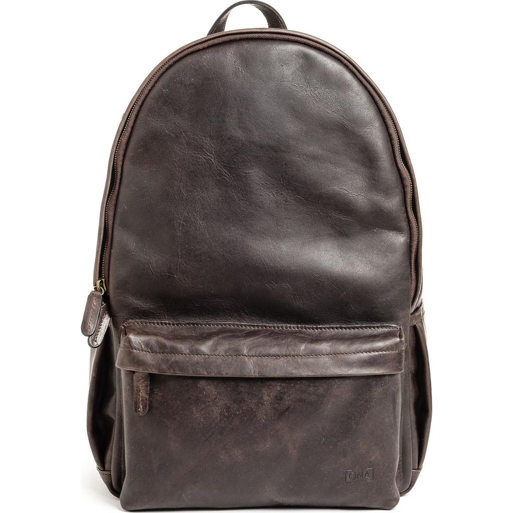 ONA Clifton Camera Backpack | Dark truffle Leather- ONA046LDB