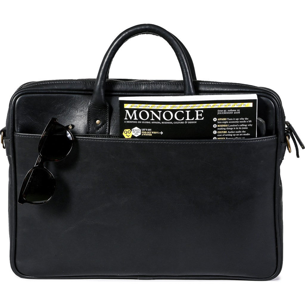 ONA Kingston Briefcase | Black Leather ONA 040LBL