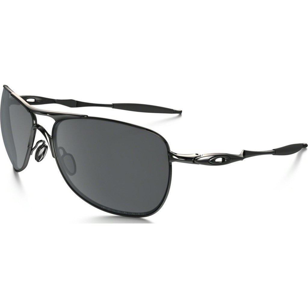 oakley crosshair black iridium polarized lenses