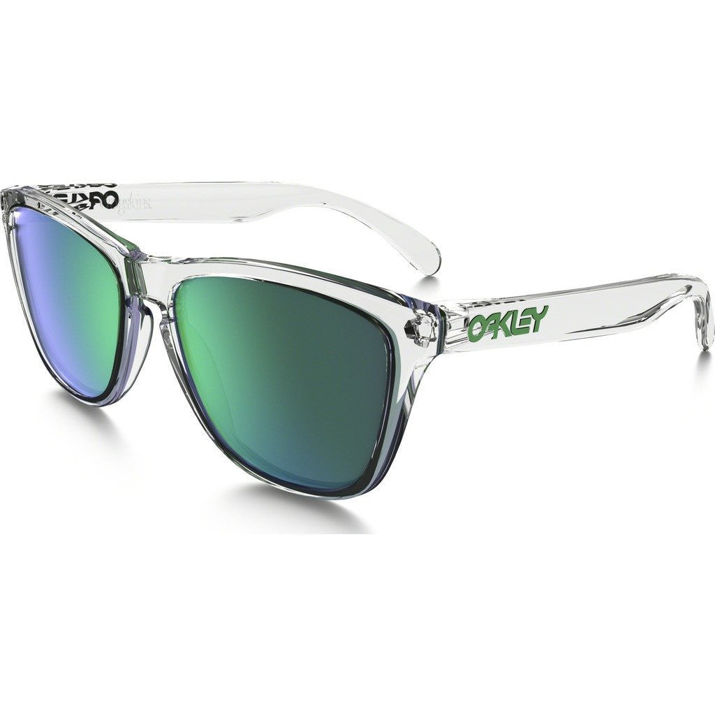 Oakley Lifestyle Frogskins Crystal Clear Sunglasses | Jade Iridium OO9013-A3