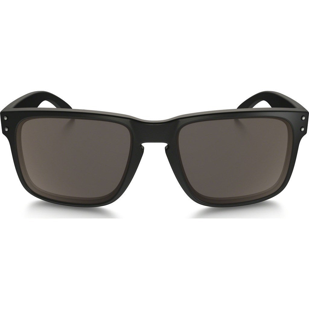 Oakley Lifestyle Holbrook Matte Black Sunglasses | Warm Grey OO9102-01