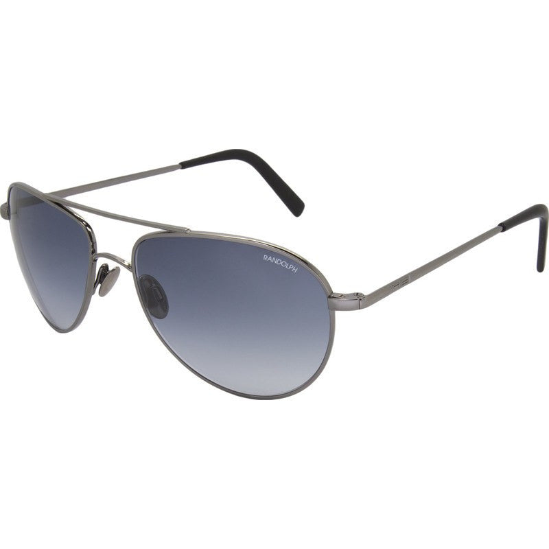 Randolph Engineering The Hawk Dark Ruthenium Polished Sunglasses | Blue Gradient Skull 57MM OP7F402-2-NY