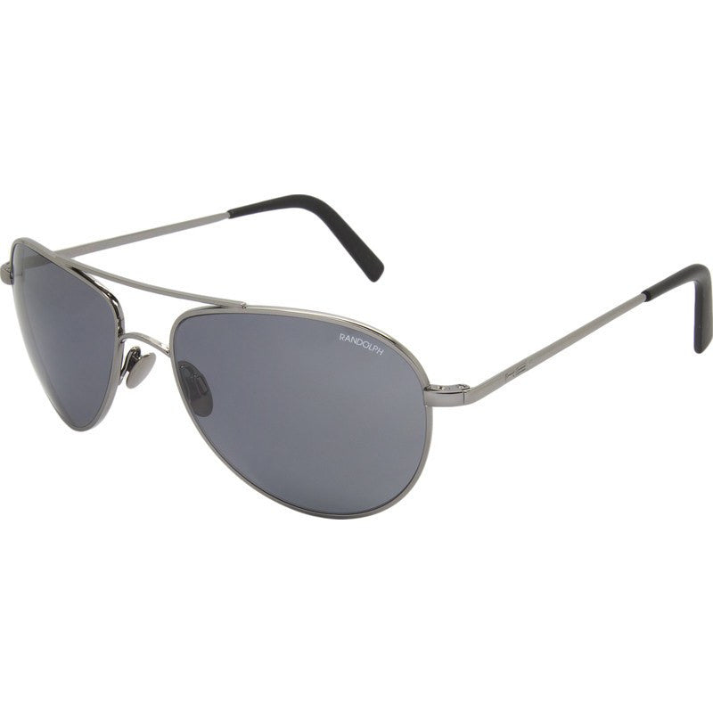 Randolph Engineering The Hawk Dark Ruthenium Polished Sunglasses | Gray Polarized PC Skull 57MM OP7F434-2-PC