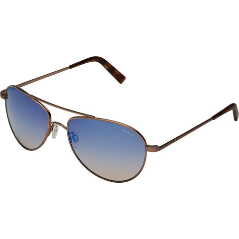 Randolph Engineering The Hawk 23K Satin Choc Gold Sunglasses | Oasis Metallic Nylon AR Skull 57MM OP7SC406-2-NY