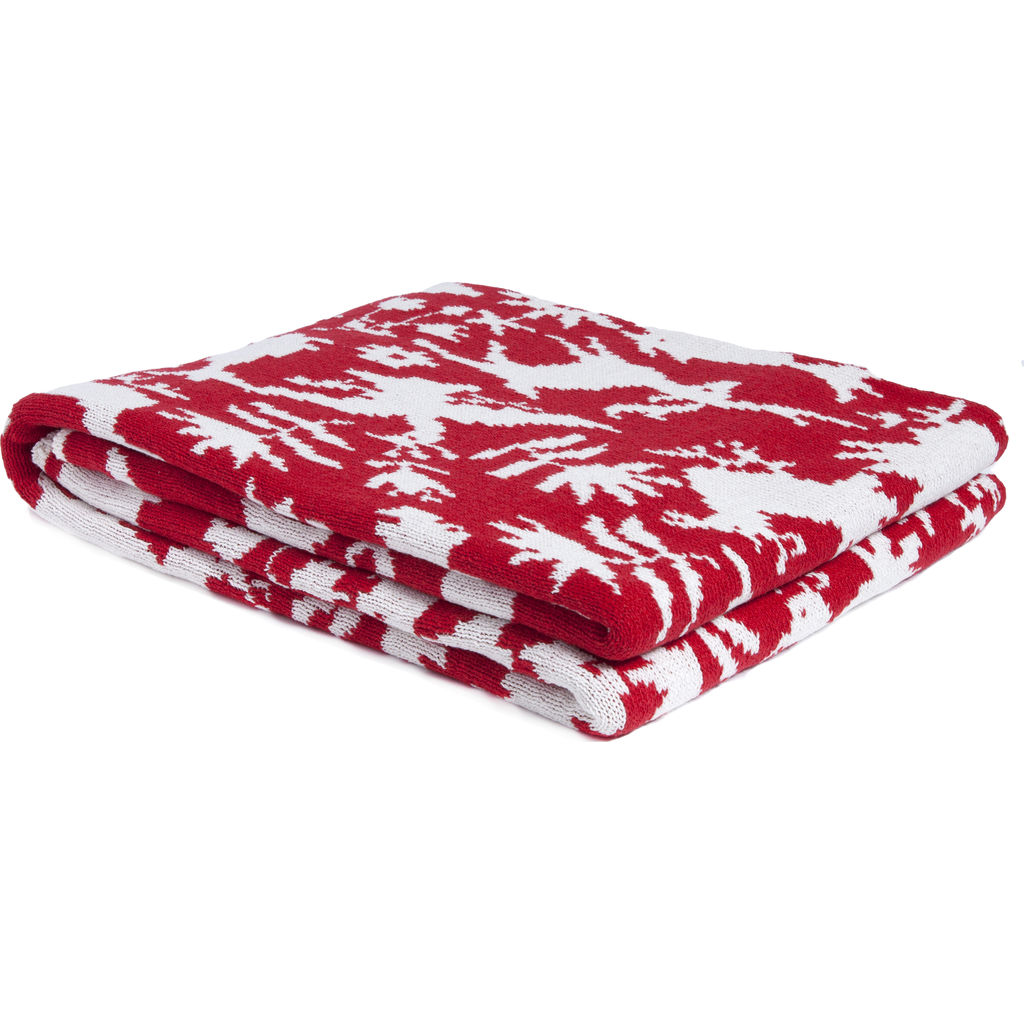 in2green Reversible Otomi Throw | Cherry BL02ROT5