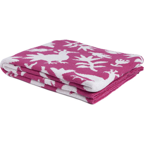 in2green Reversible Otomi Throw | Fuchsia BL02ROT8