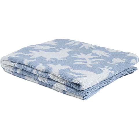in2green Reversible Otomi Throw | Blue Pond BL02ROT9