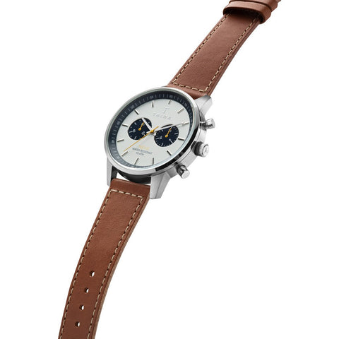 Triwa Ocean Nevil 2.0 Watch | Brown Sewn Classic 2 Strap NEST113:2-SC010215