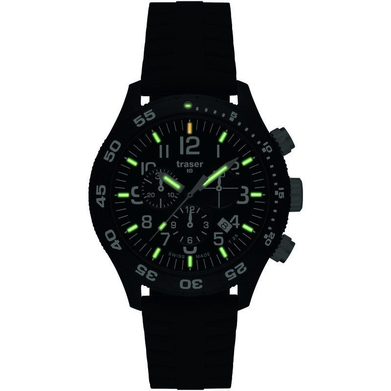 traser H3 Professional P6704 Officer Chronograph Pro Men's Watch | Silicone Strap