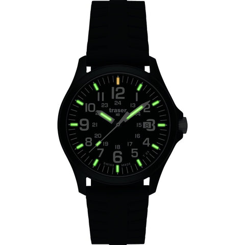 traser H3 Officer Pro Sapphire Watch | Silicone Strap