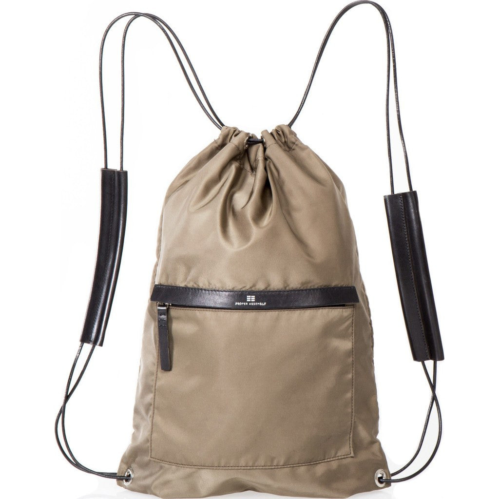 Proper Assembly No. 3 Cinch Backpack | Olive Drab PA03OLIBLK