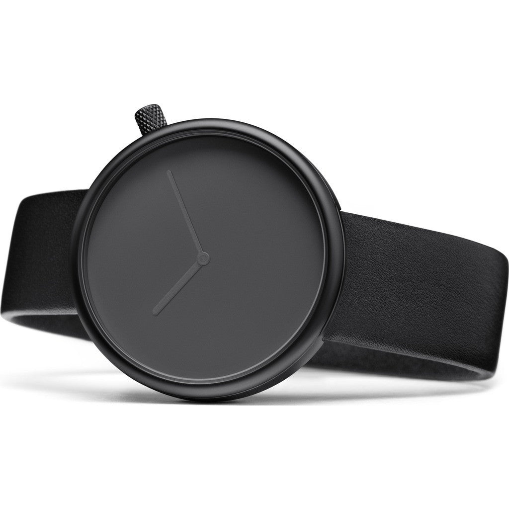 bulbul Ore 01 Men's Watch | Black Steel on Black Italian Leather