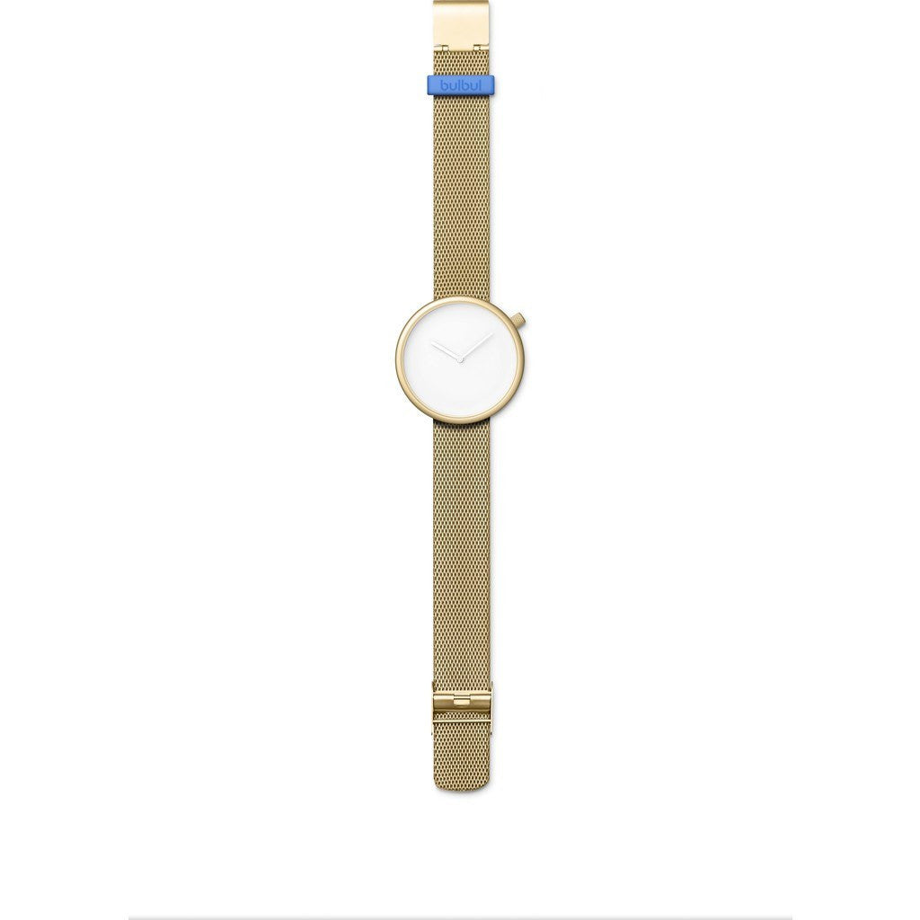 bulbul Ore 08 Men's Watch | Matte Gold Steel on Gold Mesh