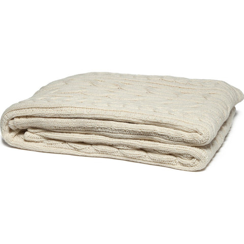 in2green Organic Fisherman Cable Eco Throw | Natural BL02ORGFC1
