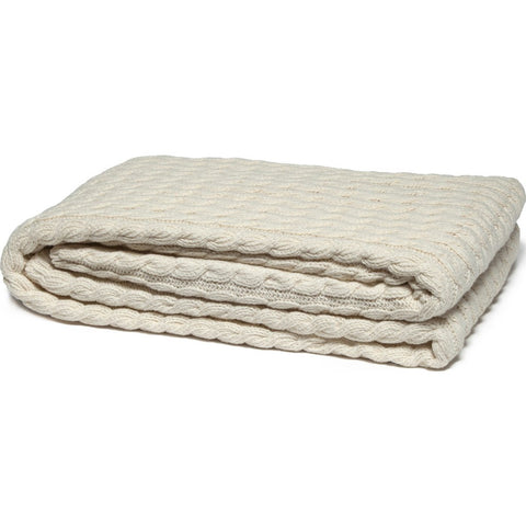 in2green Organic Ribbed Cable Eco Throw | Natural BL02ORGCB1
