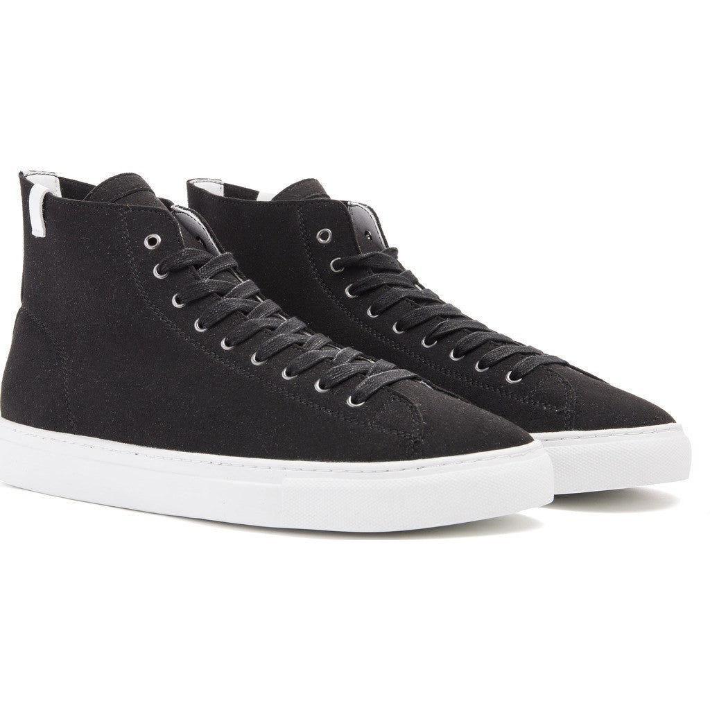House of Future Original Hi-Top Micro-Suede Shoes | Black Size 41 1015A1001