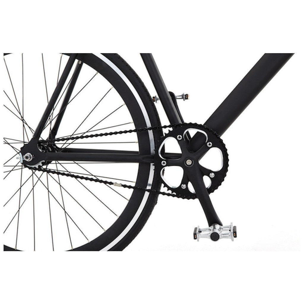 Sole Bicycles Overthrow Fixed Single Speed Bike | Matte Black Frame/Black Rims Sole 030-52