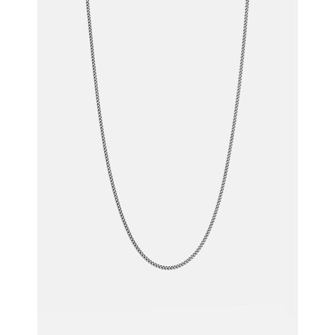 Miansai Cuban Chain Necklace | Brushed Sterling Silver