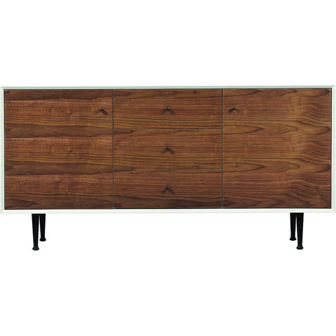 ION Design Cora Small Credenza | White/Brown P-12183