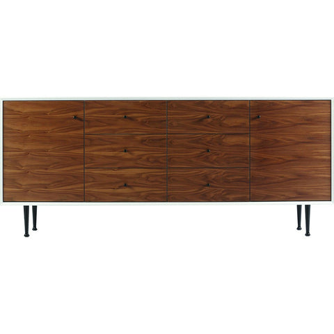 ION Design Cora Large Credenza | White/Brown P-12184