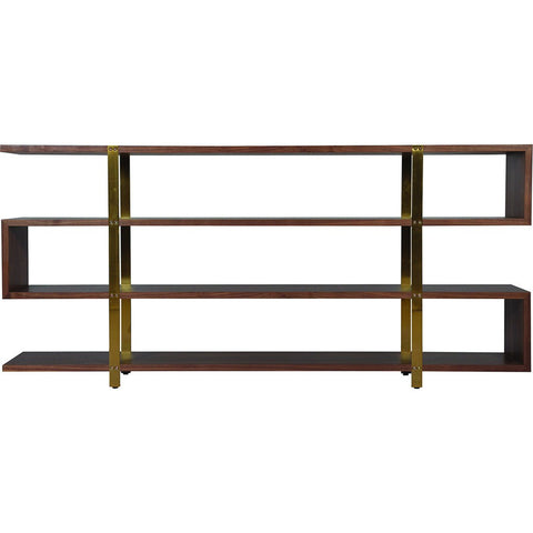 ION Design Metro 4 Shelf Bookcase | Brown P-20822