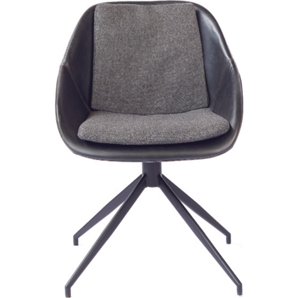 ION Design Gaia Chair | Matte Black/Dark Gray P-25017