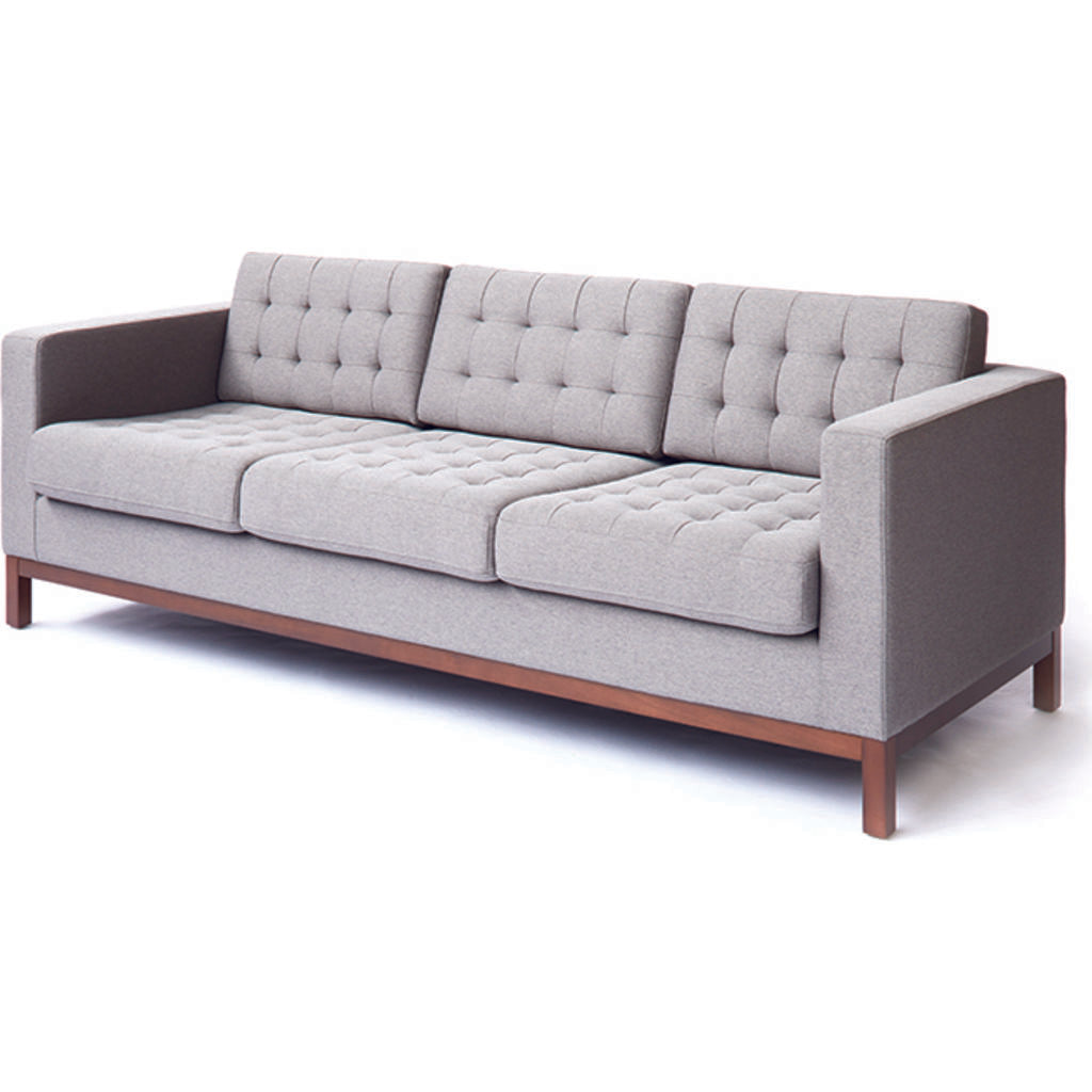 ION Design Dixon Sofa | Gray/Walnut P-25816
