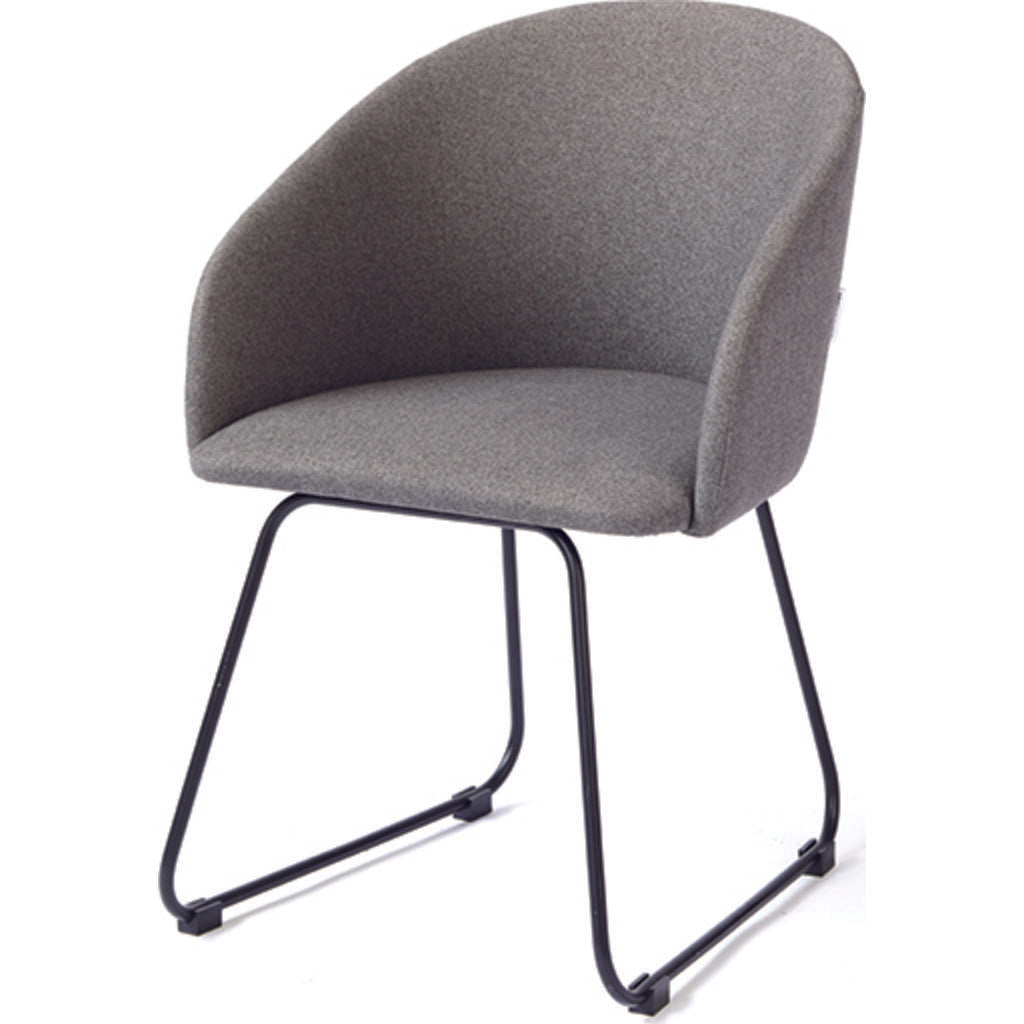 ION Design Oskar Dining Armchair | Gray/Black P-26132