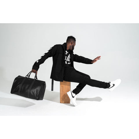 Hook & Albert Project 11 Leather Garment Weekender Bag | Black