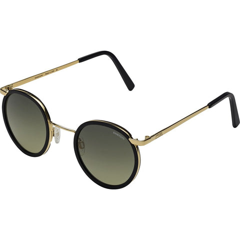 Randolph Engineering Fusion P3 23K Gold/Black Sunglasses | Green Gradient Skull P3P1401-I3-Ny