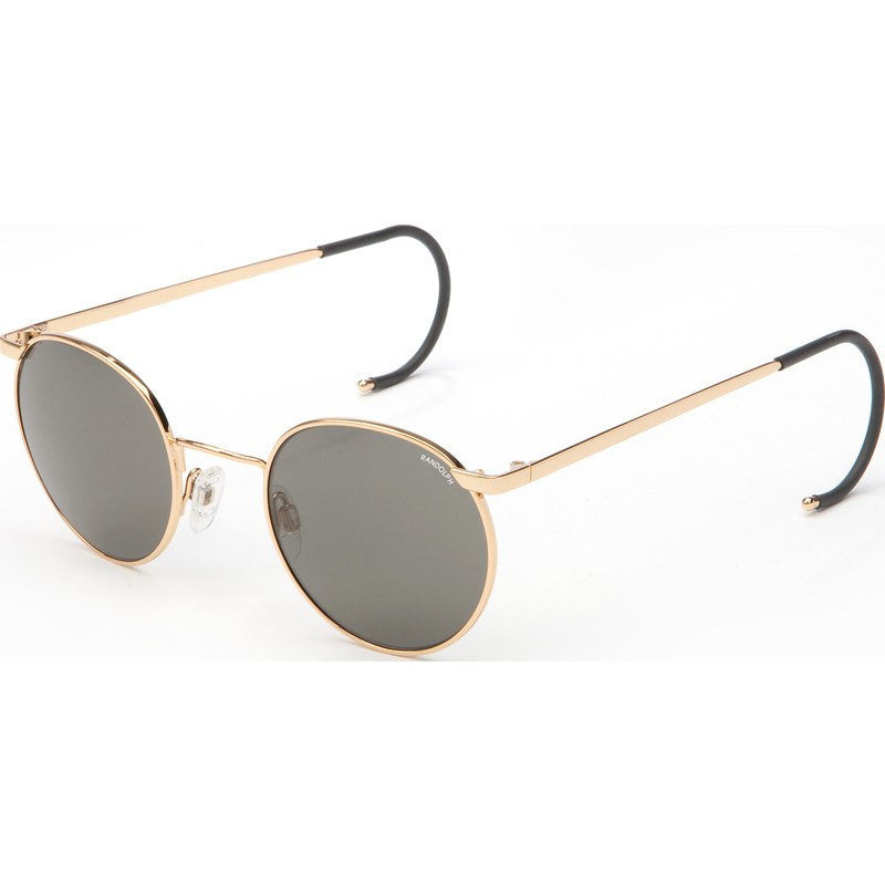 Randolph Engineering P-3 23K Gold Plated Sunglasses | Gray Cable