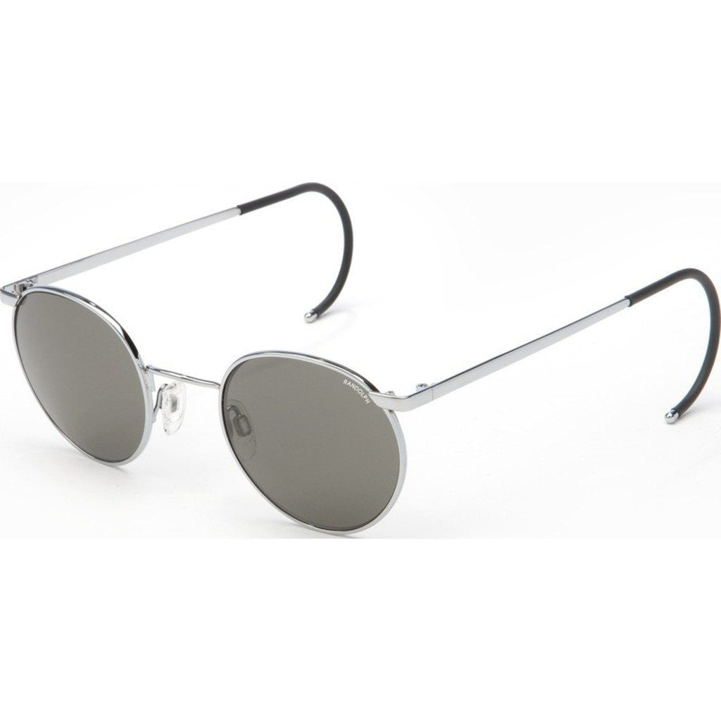 Randolph Engineering P-3 Bright Chrome Sunglasses | Gray Glass Cable 49/23MM P3P3711