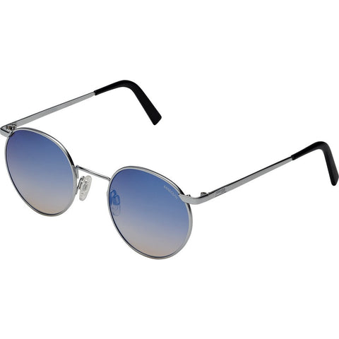 Randolph Engineering P-3 Matte Chrome Sunglasses | Oasis Metallic Nylon AR Skull 49/23MM P3P4406-NY