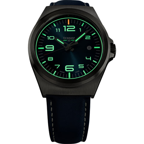 traser H3 Blue P59 Essential M Watch | Leather Strap 108214