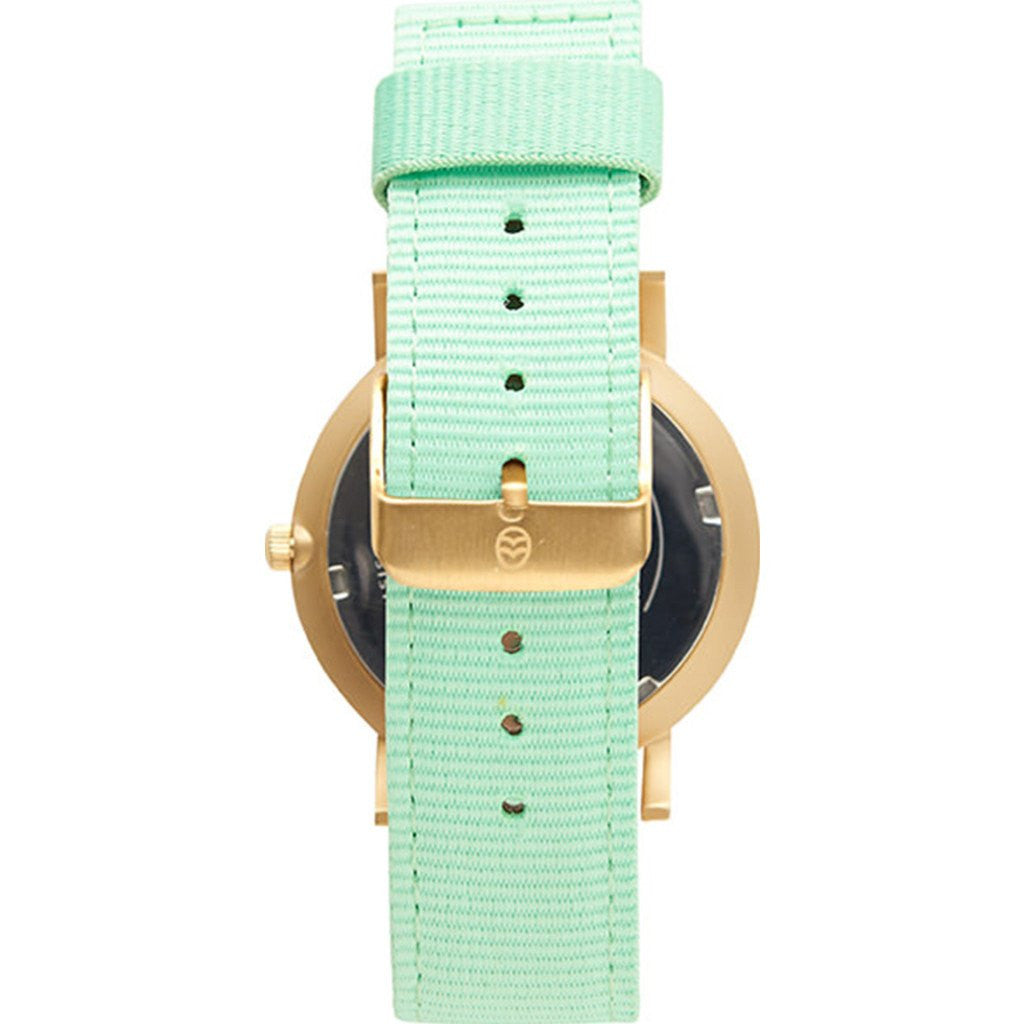 Shore Projects Portland Watch with Classic Strap | Gold / White / Mint S022G