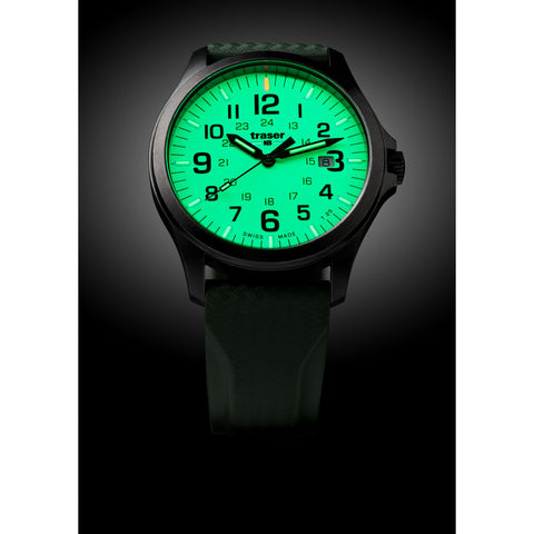 traser H3 Lime P67 Officer Pro Gunmetal Watch | Rubber Strap74-107424